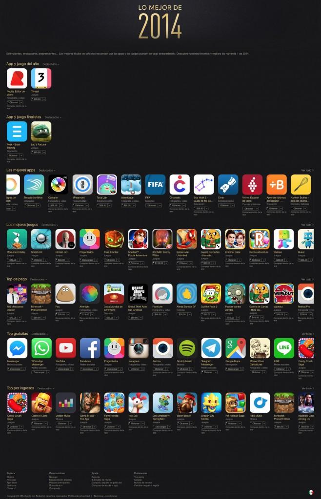 itunes aplicaciones 2014