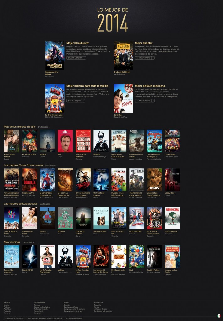 itunes películas 2014