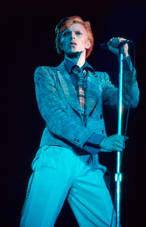 Picture Shows: David Bowie performing in 1976.