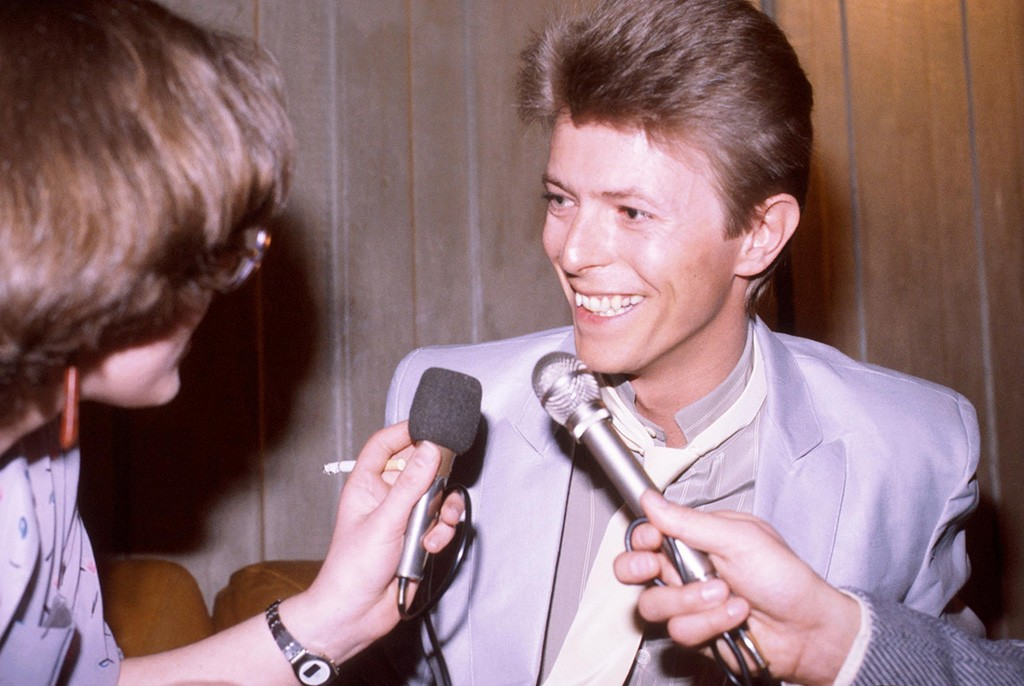 Picture Shows: David Bowie interviewed at the Natiowide Rock and Pop Awards 1981 where he picked up the award for best male singer.