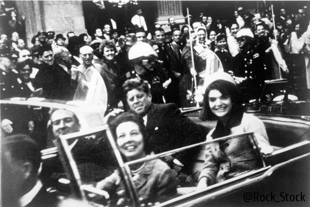 UNSPECIFIED - CIRCA 1754: John F Kennedy motorcade, Dallas, Texas USA, 22 November 1963. Close-up view of President and Mrs Kennedy and Texas Governor John Connally and his wife. Photographer: Victor Hugo King. (Photo by Universal History Archive/Getty Images)